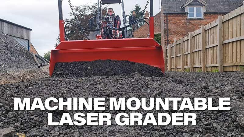 machine mountable laser grader